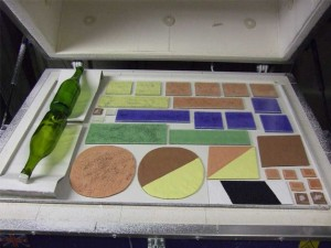 Making the fused glass art