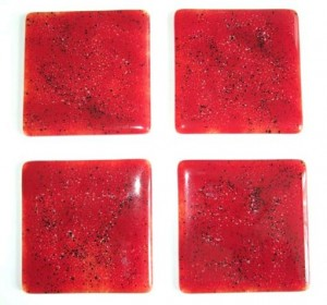 christmas fused glass coasters