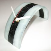 Black & White Curved Clock