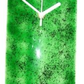 Green Speckled Clock