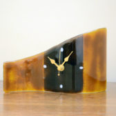 Topaz & Brown Table Clock