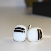 Black & White Cufflinks Striped