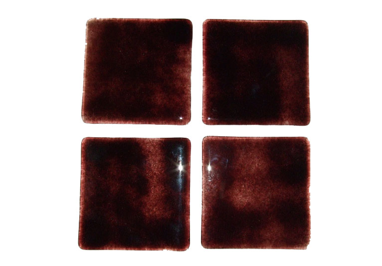handmade fused brown glass coasters set of 4 free uk delivery. Black Bedroom Furniture Sets. Home Design Ideas