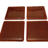 Burgundy Red Coaster Set