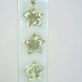 Gold Star Hanging Glass