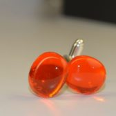 Orange Cufflinks Stylish & Modern Design