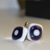 Purple Spot Cufflinks