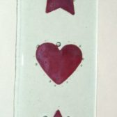 Star & Hearts Glass Hanging