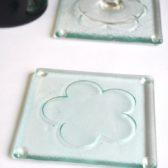 Glass coasters